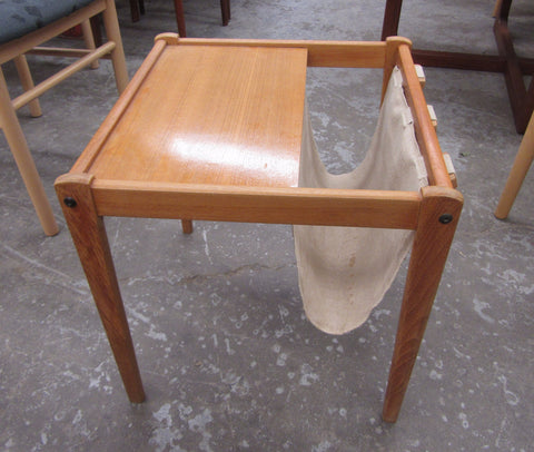 Teak End Table / Magazine Holder
