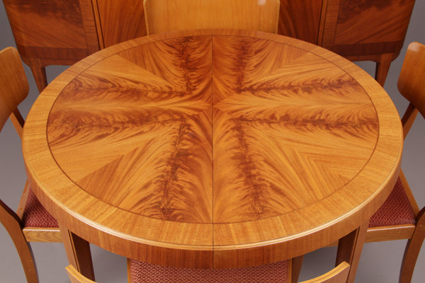 Beautiful Round Birch Dining Table with Matching Chairs