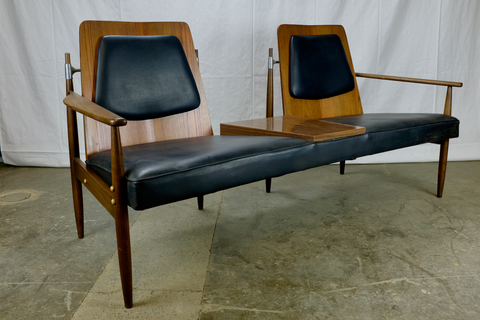 Mid-Century Walnut Bench or Settee