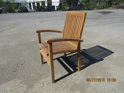 Solid Teak Outdoor Stackable Armchair Melania