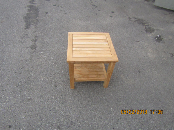 Solid Teak outdoor square side table