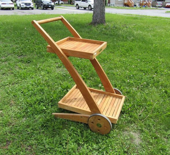 Solid Teak Outdoor Trolley
