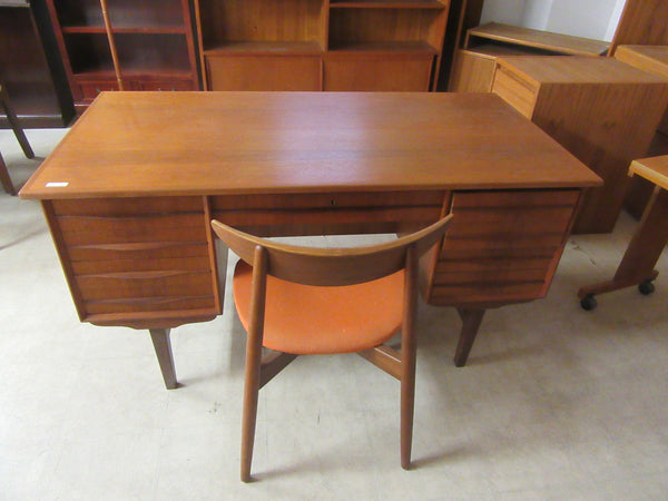 Teak Desk with Back Storage