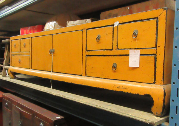 Oriental Yellow Long Cabinet