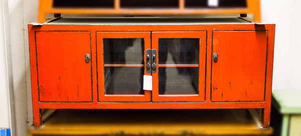 Oriental Glass Doors Cabinet