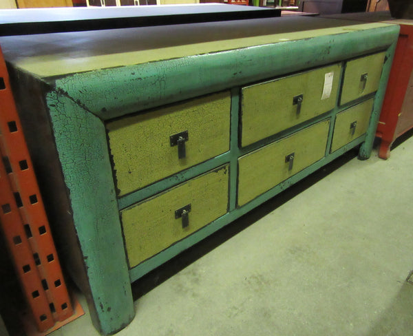Yellow / Green Low Cabinet