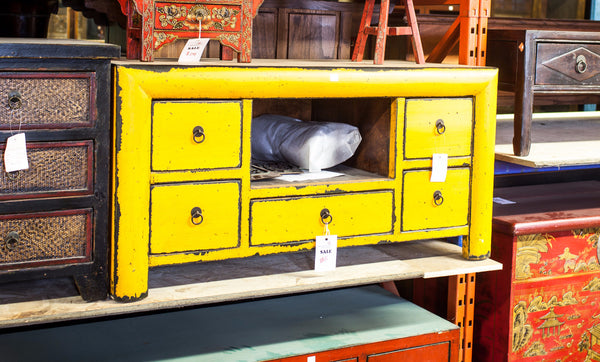 Oriental Yellow Low Cabinet
