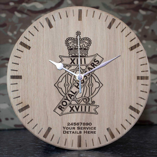 13th 18th Royal Hussars Oak Clock