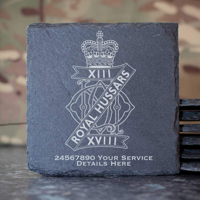 13th 18th Royal Hussars Slate Coaster