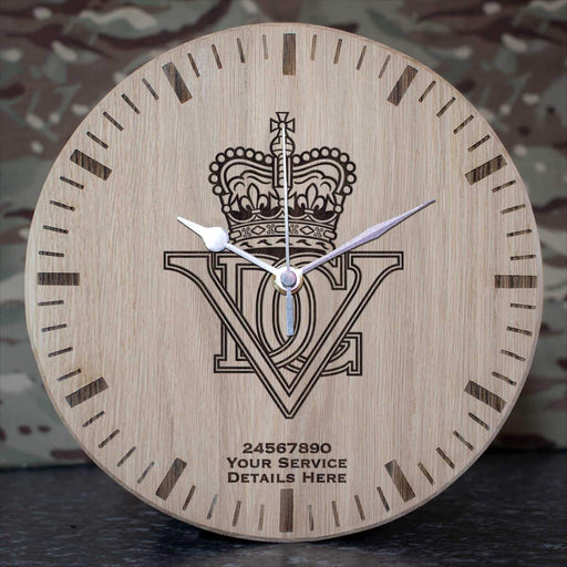 5th Inniskilling Dragoon Guards Oak Clock