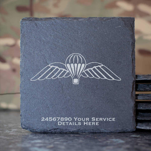 Airborne Wings Slate Coaster