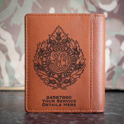 Argyll and Sutherland Highlanders Credit Card Wallet