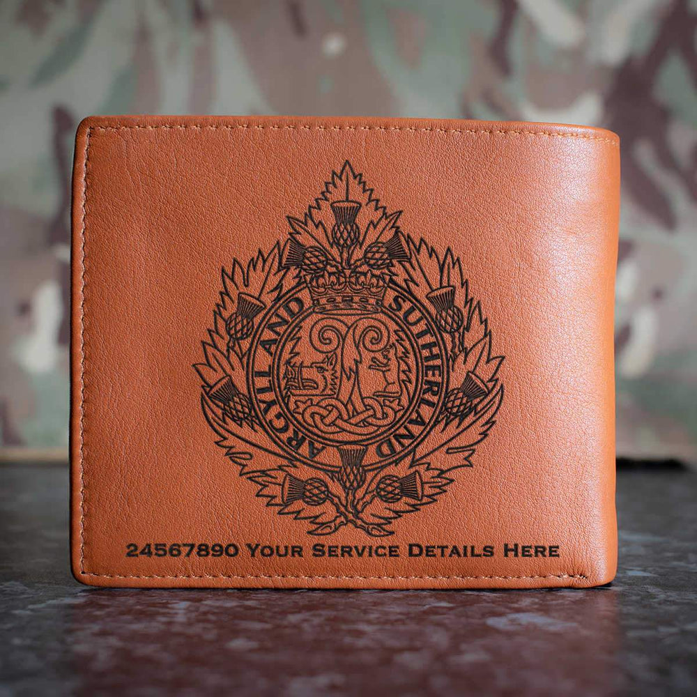 Argyll and Sutherland Highlanders Leather Wallet