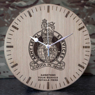 Army Legal Service Oak Clock