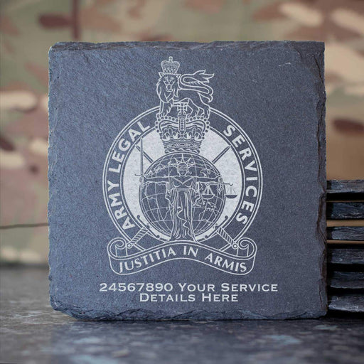 Army Legal Service Slate Coaster