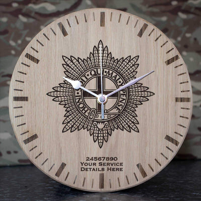 Coldstream Guards Oak Clock