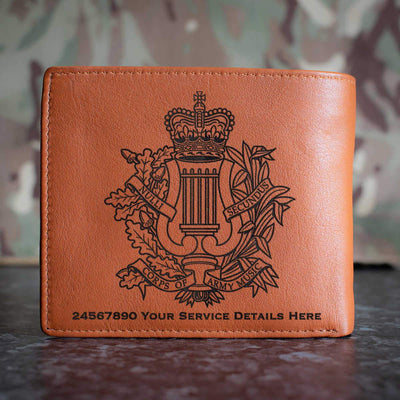 Corps Of Army Music Leather Wallet