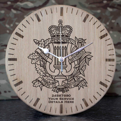 Corps Of Army Music Oak Clock
