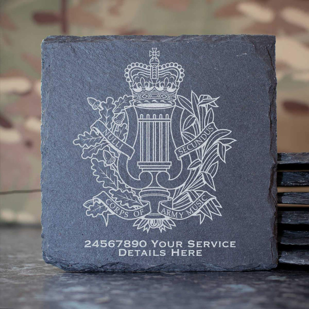 Corps Of Army Music Slate Coaster