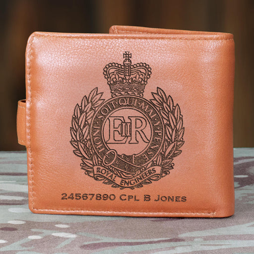 Royal Engineers Personalised Leather Wallet (022)