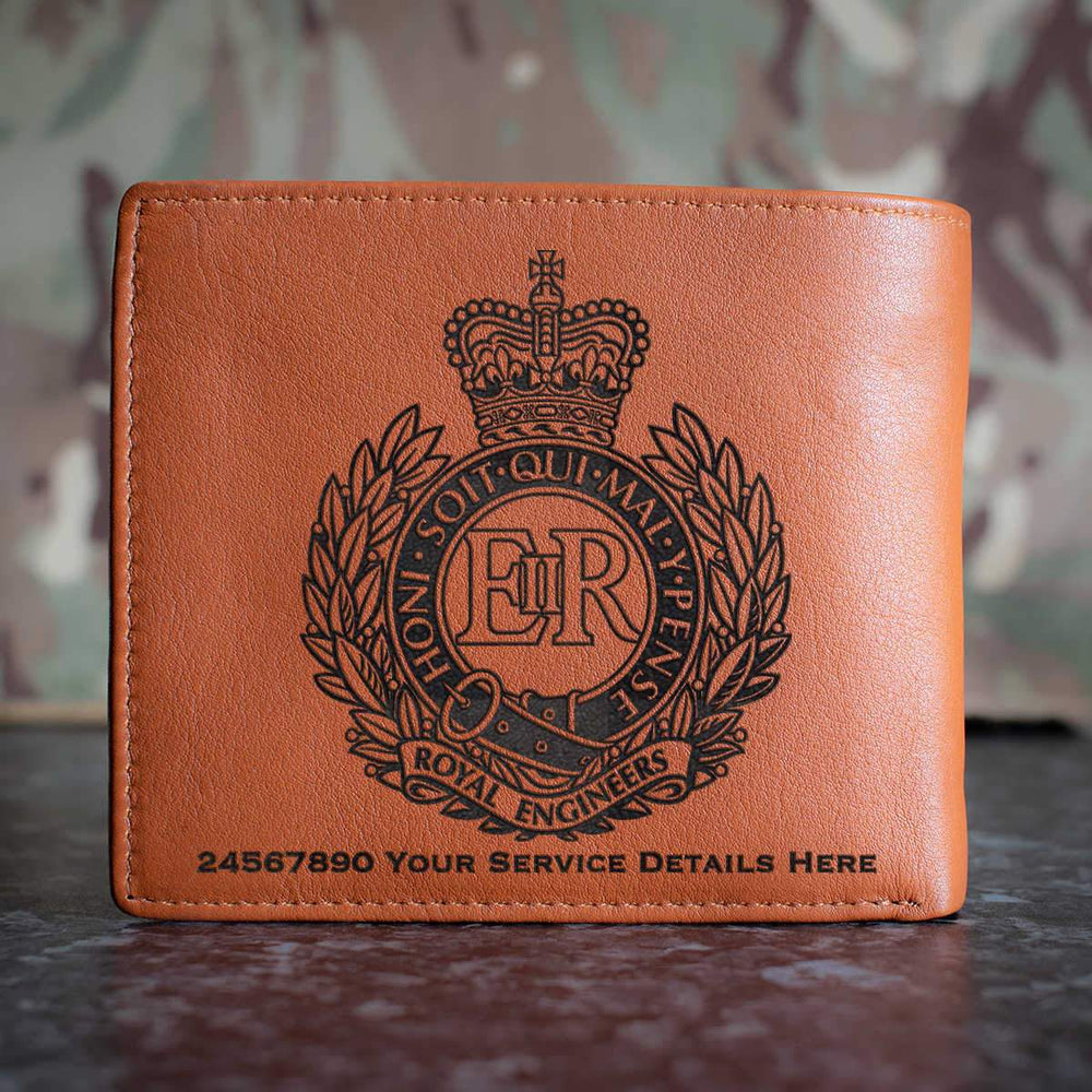 Royal Engineers Leather Wallet