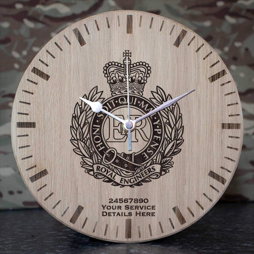 Royal Engineers Oak Clock