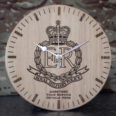 Royal Military Police Oak Clock