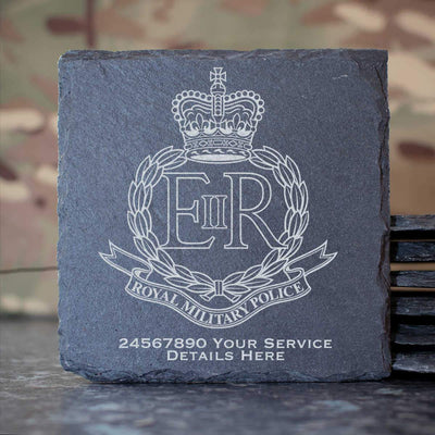 Royal Military Police Slate Coaster