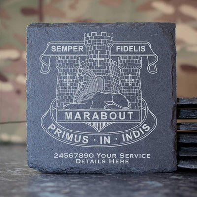Devonshire and Dorset Light Infantry Slate Coaster