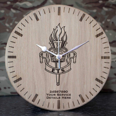 Education and Training Service Oak Clock