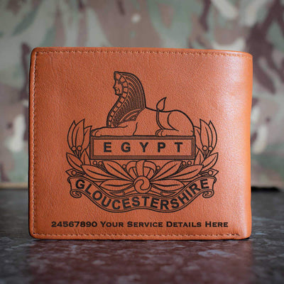 Gloucestershire Regiment Leather Wallet