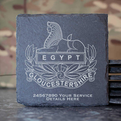 Gloucestershire Regiment Slate Coaster