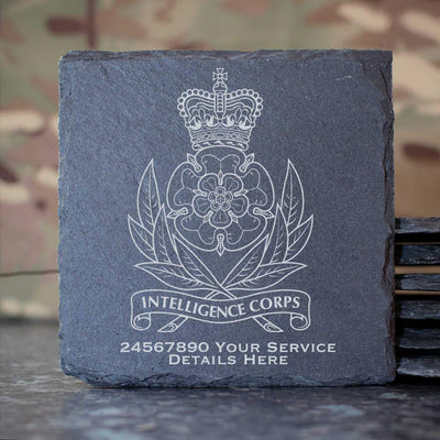 Intelligence Corps Slate Coaster