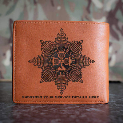 Irish Guards Leather Wallet