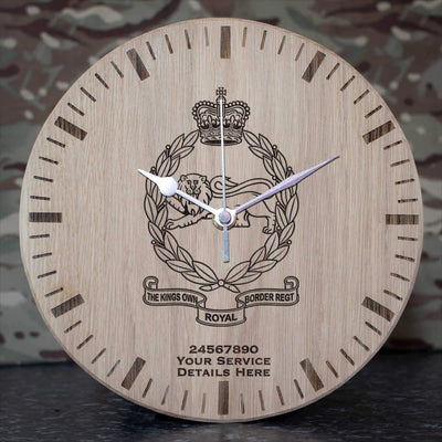 Kings Own Royal Border Regiment Oak Clock