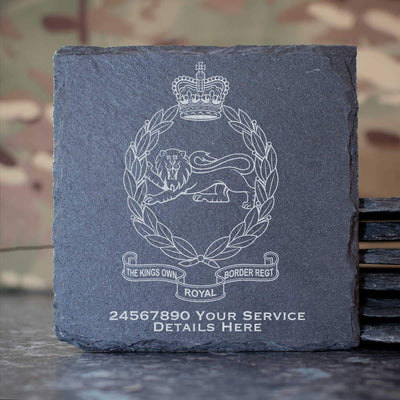 Kings Own Royal Border Regiment Slate Coaster