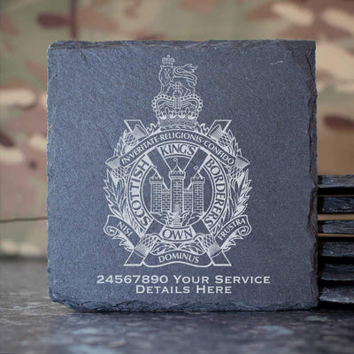 Kings Own Scottish Borderers Slate Coaster