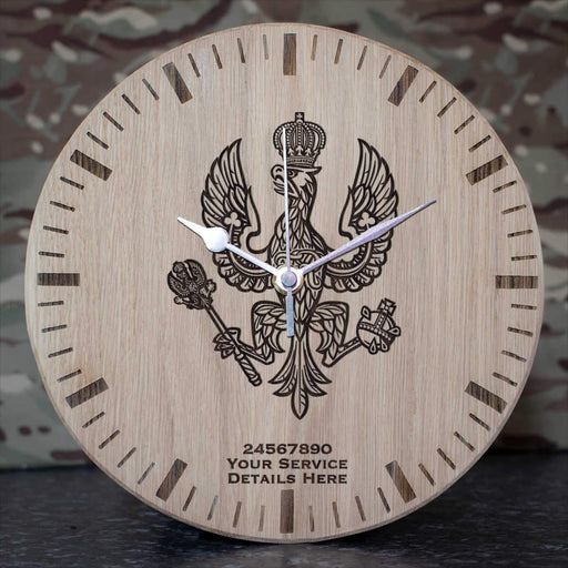 Kings Royal Hussars Oak Clock