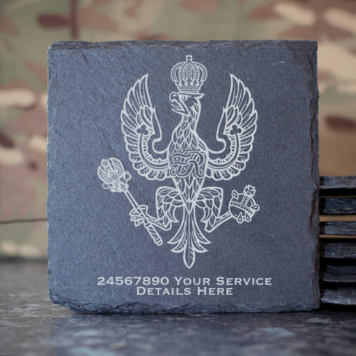 Kings Royal Hussars Slate Coaster