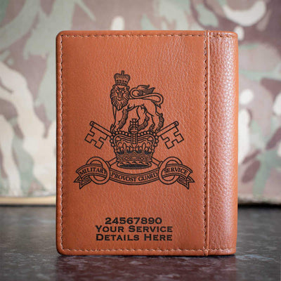 Military Provost Guard Service Credit Card Wallet