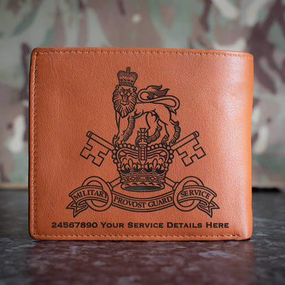 Military Provost Guard Service Leather Wallet