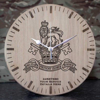 Military Provost Guard Service Oak Clock