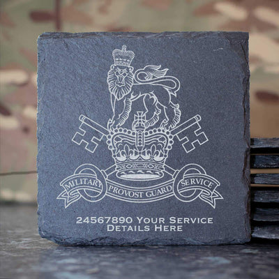 Military Provost Guard Service Slate Coaster
