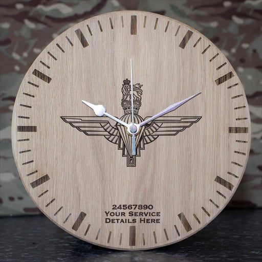 Parachute Regiment Oak Clock