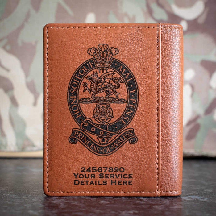 Princess of Wales Royal Regiment Credit Card Wallet