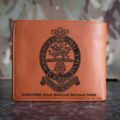 Princess of Wales Royal Regiment Leather Wallet
