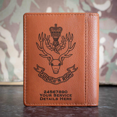 Queens Own Highlanders Credit Card Wallet