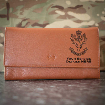 Queens Own Highlanders Leather Purse