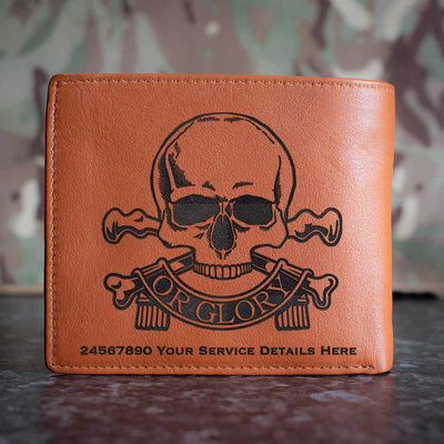 Queens Royal Lancers Leather Wallet