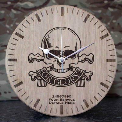 Queens Royal Lancers Oak Clock